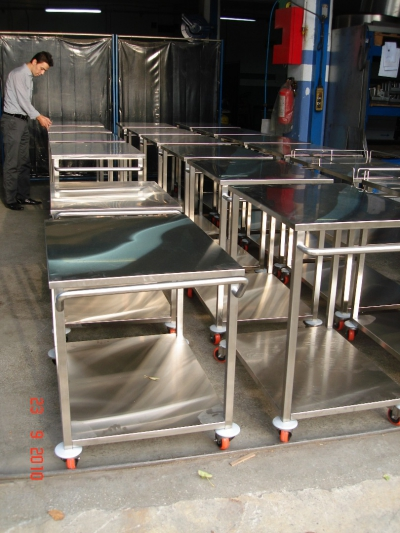 Paslanmaz Çelik Taşıma Ekipmanları  (Trolley)