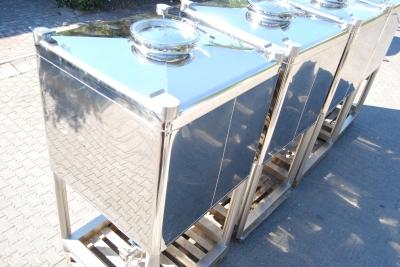 2000 litre IBC flowbin Konteyner