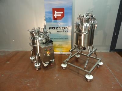 İlaç Sektörüne Uygun Manyetik Karıştırıcılı Üretim ve Filtrasyon Paslanmaz Tankı