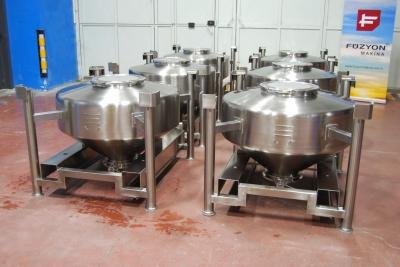 Paslanmaz Çelik IBC Flowbin Toz Konteyner